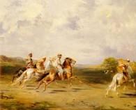 image of arab horseman
