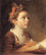 Picture: Young Scholar by Jean-Honore Fragonard